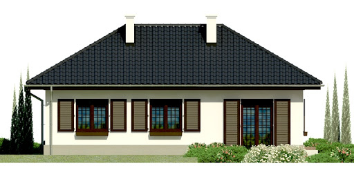 Dom przy Topolowej - Elewacja tylna