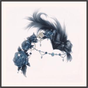 夜薔薇の羽飾り