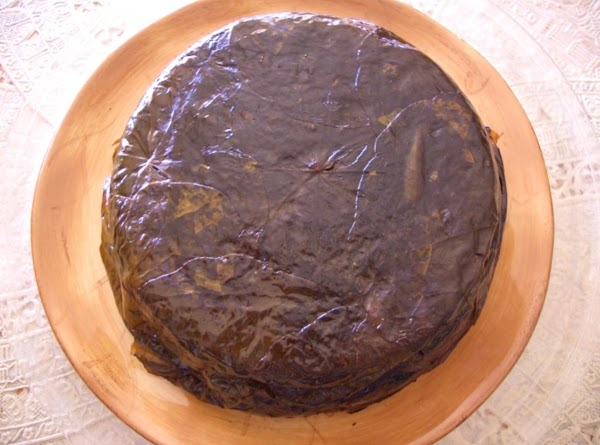 After is cooked, turned it over in your serving dish like a cake, (you...