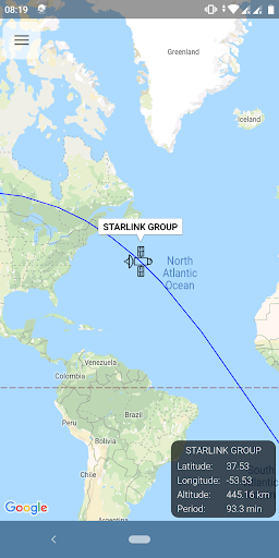 Starlink Satellite Tracker screenshot 1