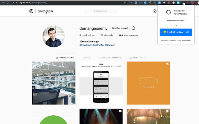 Tools For Automation : Instagram Automation