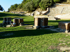 Photo: Apollonia, Illyrian city founded by Greek colonists in 588 BC - Triumphal Arch and Odeon