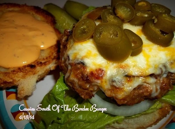 Cass's Juicy South Of The Border Burger Recipe