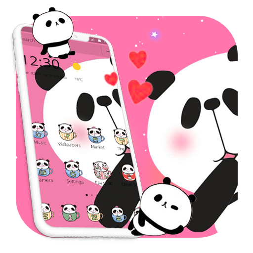 Kawaii Pink Panda Cartoon Theme Aplikasi Di Google Play