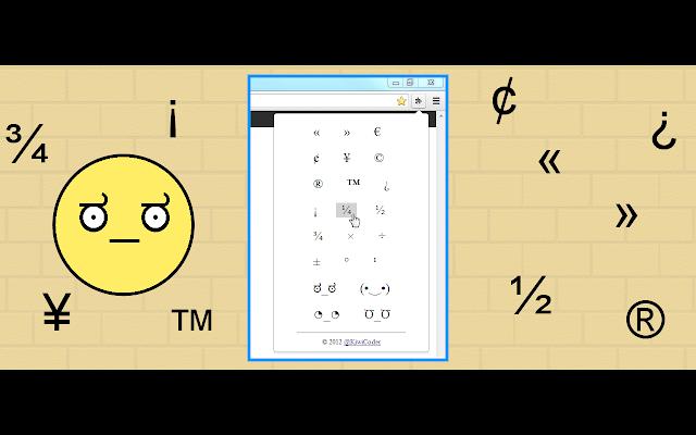 Symbols for pasting