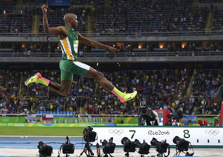 Luvo Manyonga in the long jump final at the 2016 Rio Olympics in Rio de Janeiro, Brazil. Picture: ROGER SEDRES/GALLO IMAGES
