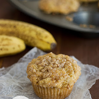 Banana Brickle Muffins.