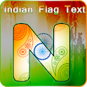 Indian Flag letter: India Independence day 2018 icon
