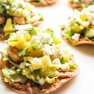 Honey Chili Lime Shrimp Tostadas with Pineapple Salsa