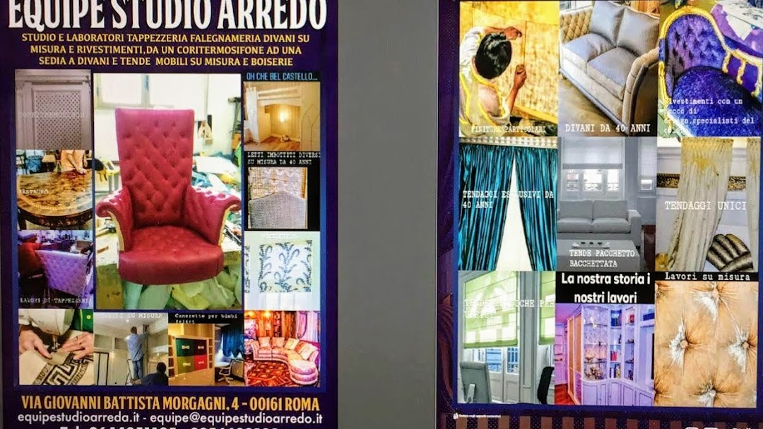 Divani Letto Su Misura A Roma.Equipe Studio Arredo Roma Divani Tendaggi Boiseries Pareti