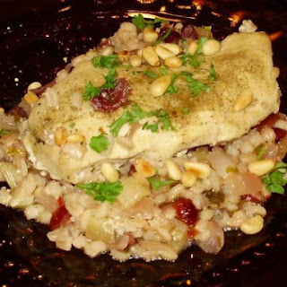 Barley Chicken With Cranberries and Pine Nuts