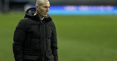 Zidane, durante el partido de Copa frente al Alcoyano.
