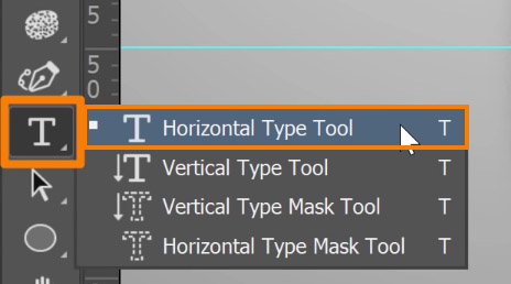 Select the Horizontal Type Text tool