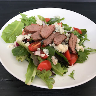 Balsamic Steak and Spring Mix Salad