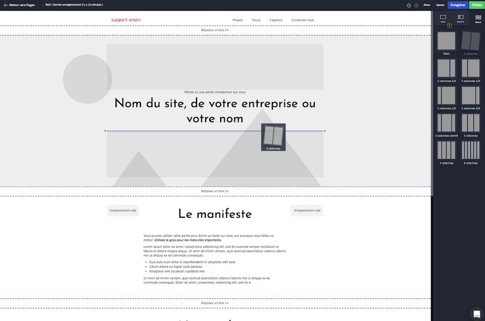 changer la structure d'une page web