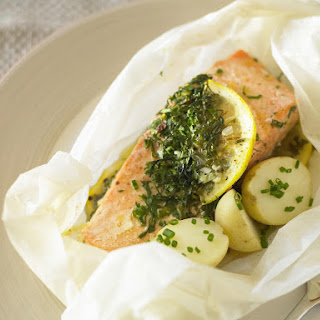 Herbed Salmon Baked in Parchment.