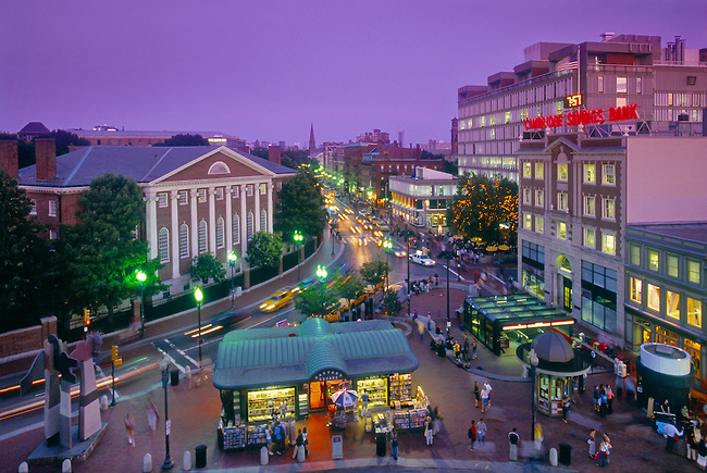 A view of Harvard Square from above. Photo: Anthony John Coletti.