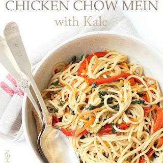 Garlicky Chicken Chow Mein with Kale