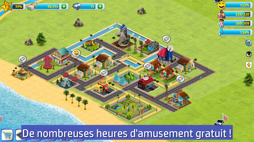 Citu00e9 village - sim d'u00eele 2  captures d'u00e9cran 2
