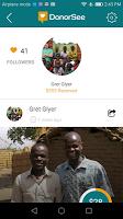 screenshot of DonorSee