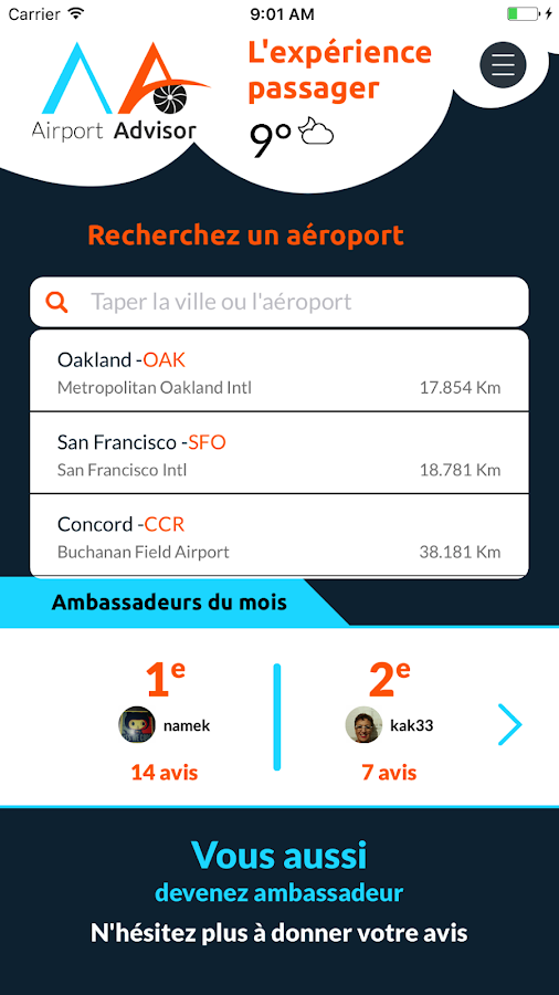 Airport Advisor – Capture d'écran