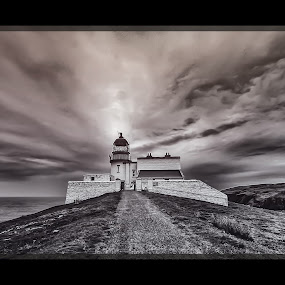 Stoer head Lighthouse by Elaine Delworth - Buildings & Architecture Other Exteriors ( clouds, sky, lighthouse, architecture, coastal )