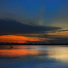 Membiru by Aprio Rahmansyah - Landscapes Travel ( travel photography, landscape photography, sunlight, sunset, sunsets, water, landscape )