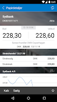 Screenshot of Sydbanks MobilBank