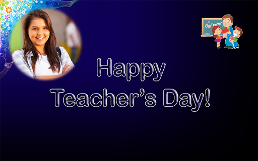 Happy Teachers Day Wish Photo Frame Maker 1.1 screenshots 1