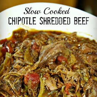 Slow Cooked Chipotle Shredded Beef.
