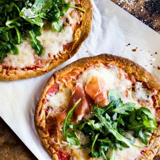 Whole Wheat Tortilla Pizzas With Arugula + Prosciutto