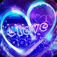 Neon Heart Keyboard Theme