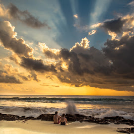 Sunset by Bobo Tandiono - Landscapes Beaches ( beaches. sun. clouds.sky )