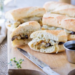Vegetarian French Dip with Mushroom Jus