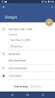 Screenshot of Shift Tracker