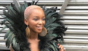 Nandi Madida isn't afraid to experiment with her hair colour. She sported a short blonde and pink crop while hosting Afro Punk in New York.