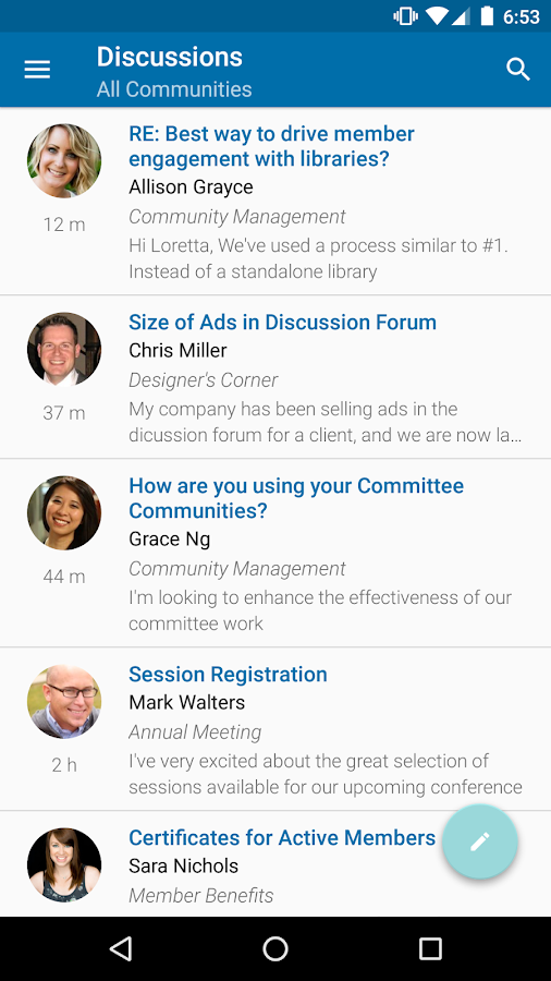 Leadership Alumni Network- screenshot