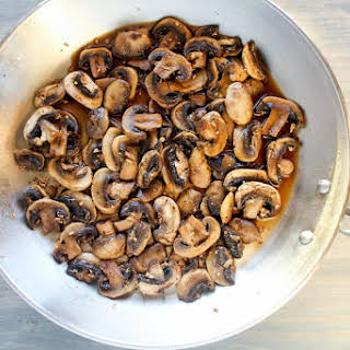 Black Pepper and Soy Sauteed Mushrooms.