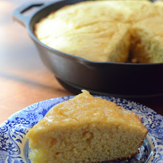 Rustic Sweet Cornbread with Honey Butter