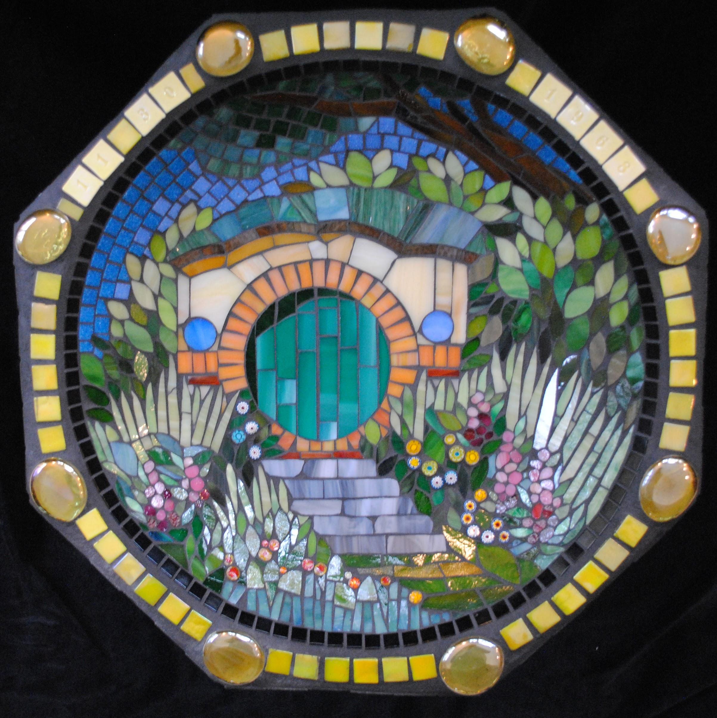 The Shire Mosaic Birdbath by Brenda Pokorny