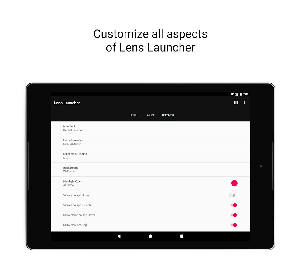 Lens Launcher- screenshot
