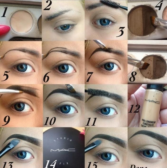 How To Put Makeup Eyebrows | Saubhaya Makeup