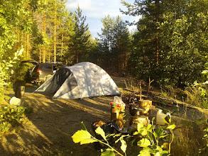 Photo: Наш лагерь на озере Салменьярви