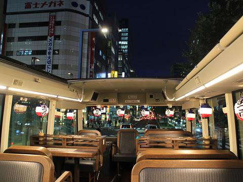 WILLER(網走バス)「レストランバス」 札幌8888 ビアナイト・レストランバスSAPPORO その3