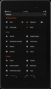 Black MTRL - Dark Orange CM13 v5.6
