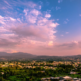 Floating clouds by Shabbir Shani - Landscapes Cloud Formations ( clouds, nature, mansehra city, sunset, shabbirshaniphotography )
