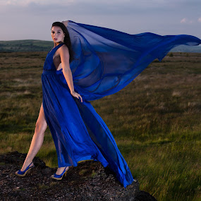 Lady in Blue by Andrew Holland - People Portraits of Women