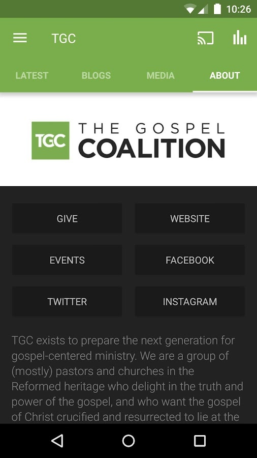 The Gospel Coalition- screenshot