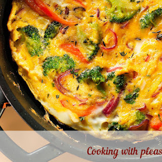Frittata With Broccoli And Sweet Pepper