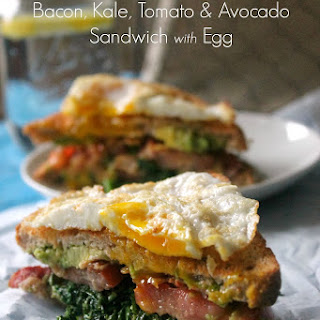 BKTA {Bacon, Kale, Tomato & Avocado} Sandwich with Egg
